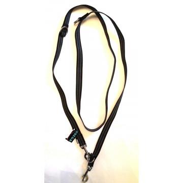 Поводок-перестёжка для собак с латексом Onega 25мм 2,5м Чёрный (прорезиненная)