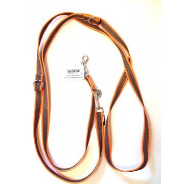 Поводок-перестёжка для собак с латексом Onega 20мм 2,5м Оранжевый (прорезиненная)