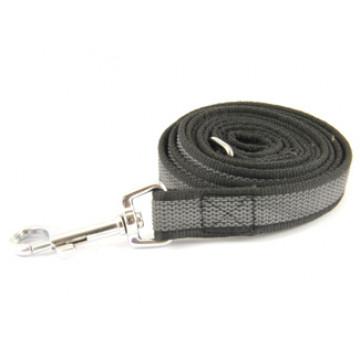 Поводок для собак нейлон с латексом Onega 20мм*1,5м Чёрный (прорезиненный)