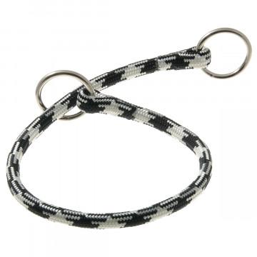 Ошейник-удавка для собак круглый нейлон 8мм Арлекин чёрно-белый