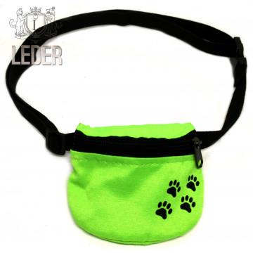 Сумочка для лакомств для собак на ремне Текстиль Салатовая
