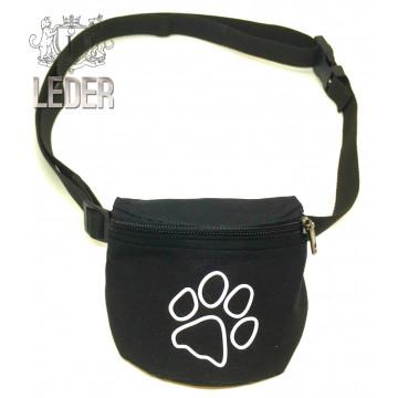 Сумочка для лакомств для собак на ремне Текстиль Черная