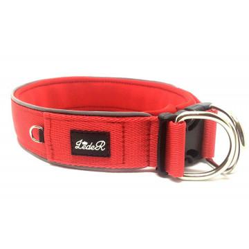 Ошейник для собак с неопреновой подкладкой 4,5см Красный