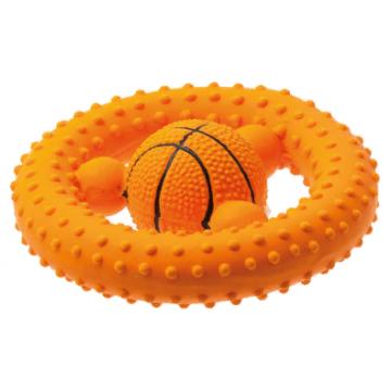 Игрушка для собак латекс Баскетбольный руль 12 см