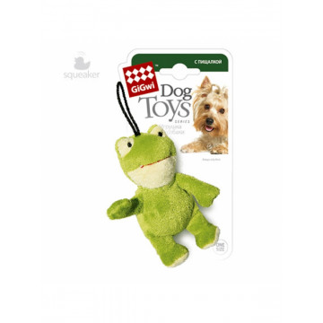 Игрушка для собак ГиГви Лягушка С Пищалкой 10 см