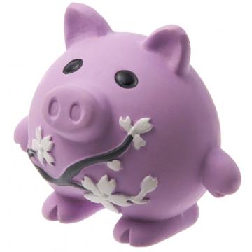 Игрушка для собак латекс Свинка с цветами 8,5 см