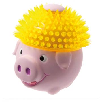 Игрушка для собак латекс Свинка в шапке из TPR 11 см