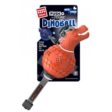 Игрушка для собак ГиГви Динозавр с Отключаемой Пищалкой 13 см Оранжевый