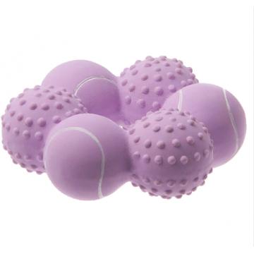 Игрушка для собак латекс Кольцо из теннисных мячиков 10 см