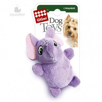 Игрушка для собак ГиГви Слоник С Пищалкой 10 см