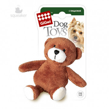 Игрушка для собак ГиГви Мишка С Лапками С Пищалкой 10 см