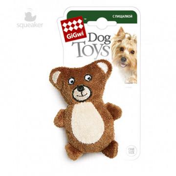 Игрушка для собак ГиГви Мишка С Пищалкой 10 см