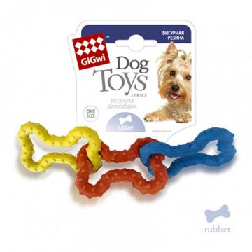 Игрушка для собак ГиГви Три Резиновый Косточки 15 см