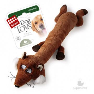 Игрушка для собак ГиГви Лиса С Большой и Малой Пищалкой 63 см