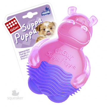 Игрушка для собак ГиГви SUPPA PUPPA Бегемот С Пищалкой 10 см