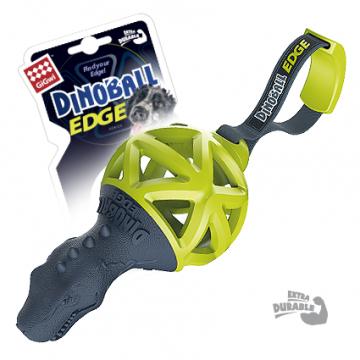 Игрушка для собак ГиГви Динобол Т-рекс чёрно-зелёный 8 см