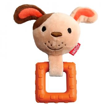 Игрушка для собак ГиГви Собачка с пищалкой 15 см