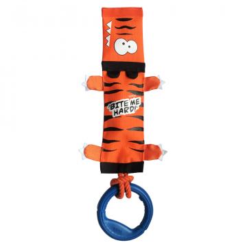 Игрушка для собак ГиГви Тигр на верёвке с ручкой 51см