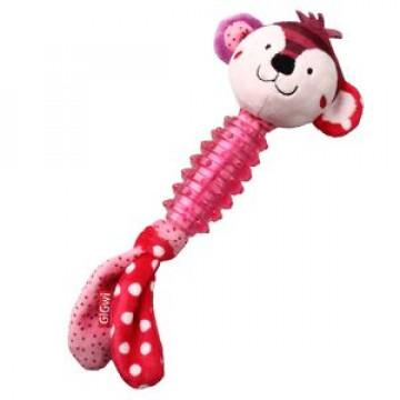 Игрушка для собак ГиГви SUPPA PUPPA Обзьяна с пищалкой ткань/резина 20см