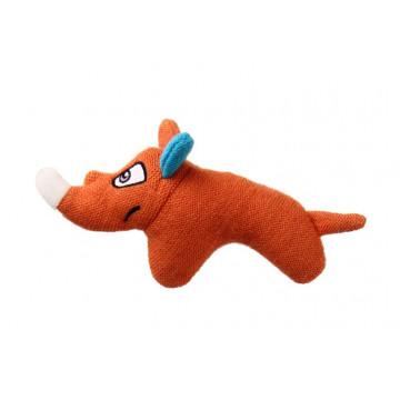 Игрушка для собак ГиГви Носорог с пищалкой текстиль 14см