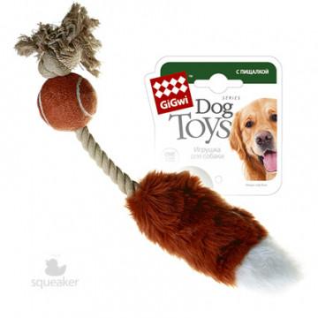 Игрушка для собак ГиГви Лисий Хвост с Пищалкой 40 см