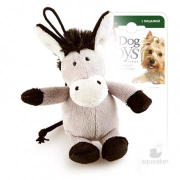Игрушка для собак ГиГви Ослик С Пищалкой 10 см