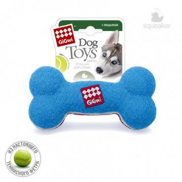 Игрушка для собак ГиГви Кость средняя С Пищалкой 18 см