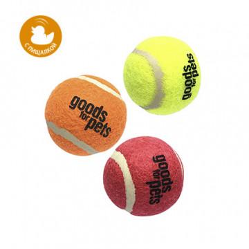 Игрушка для собак ГиГви Мяч Теннисный С Пищалкой (3 шт) XS 4 см