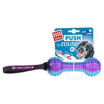 Игрушка для собак ГиГви Гантеля с Отключаемой пищалкой 18 см