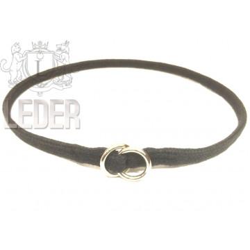 Удавка для собак Onega хлопок 5 мм 35-50 см Чёрная