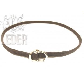 Удавка для собак Onega хлопок 5 мм 35-50 см Тёмно-коричневая