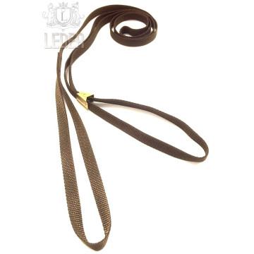 Ринговка для собак Simplicity плоская нейлон Коричневая