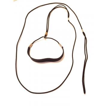 Ринговка для собак Onega Круглая с Расширителем нейлон 3мм Черная