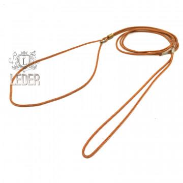 Ринговка для собак Onega Круглая нейлон 3мм Рыжая