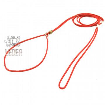 Ринговка для собак Onega Круглая нейлон 3мм Красная