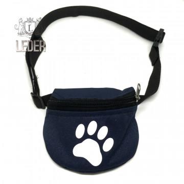 Сумочка для лакомств для собак на ремне Текстиль Синяя