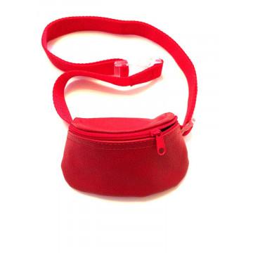 Сумочка для лакомств для собак на ремне Молния Красная Onega