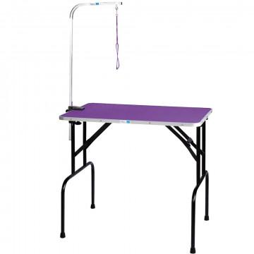 Стол для груминга TAIWAN 76*47*83см фиолетовый + кронштейн