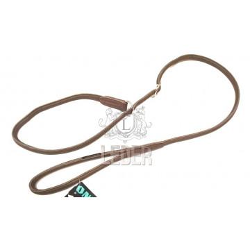Ринговка для собак Onega Круглая кожа *6*8мм с ограничителем Коричневая